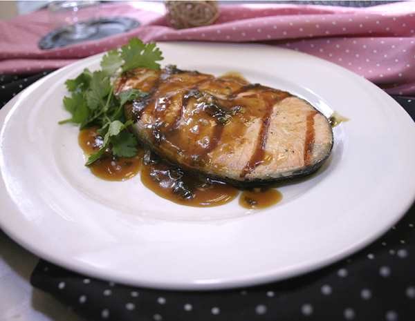 Recipe Grilled Salmon with Panda Brand Premium Soy Sauce