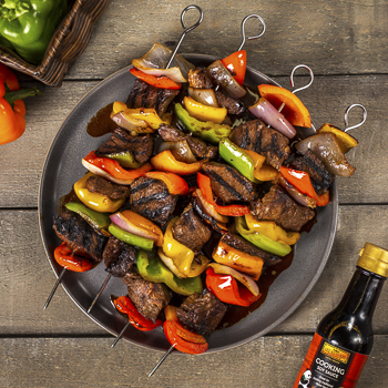 Recipe Grilled Pepper and Steak Kebabs S